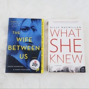 The wife between us / what she knew books